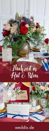 Festlich, elegant und intensiv: durch das Zusammenspiel von würzigem Rot und Braun …   – Tischdeko für die Hochzeit