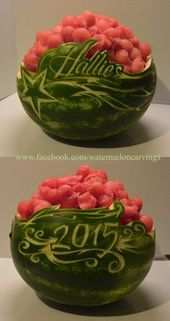 Carved Watermelon Bowl | Recipe | Watermelon bowl, Carved watermelon ...