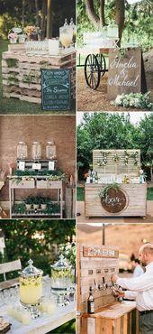 25 Kreative Ideen für eine Hochzeits-Getränkestation im Freien und eine Bar – Seite 2 von 2
