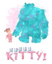 "Sulley and Boo ""Kitty"" 8×10  Monsters Inc. Printable Poster – DIGITAL / Immediate Obtain / Disney Wall Artwork / Pixar / Dwelling Decor / Quote"