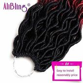 """Details about 6 Packs Goddess Locs Crochet Hair Wavy Curly Faux Locs Synthetic Hair(20"""",OT530)"""
