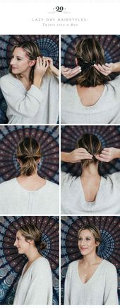 Awesome Easy Hairstyles Quick Lazy Girl Messy Buns - #awesome #hairstyles #messy #quick - #new