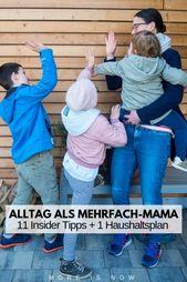 Den Alltag als Mehrfach-Mama meistern. Mein Weg plus unser NEUER, sehr notwendiger Familien-Haushaltsplan! – Deutschsprachige Elternblogger {Das Leben mit Kindern}