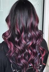 Your Plum Hair Color Guide: 57 Posh Plum Hair Color Ideas & Dye Tips  – Short hair styles