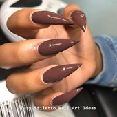30 Ideen für ein großartiges Stiletto-Nageldesign # Styletails #nail – Nails   – Long nails