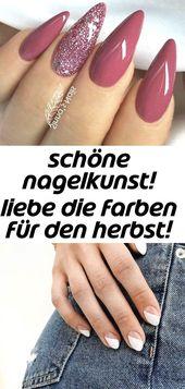Schöne Nagelkunst! liebe die Farben für den Herbst! vielleicht ein wenig mandel … 22   – Nagel