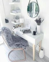 """Photo of Scandinavian style on Instagram: """"Organization of a workplace in a bedroom??? ⠀ Not always the area of housing allows you to organize a separate office for work, but a work area …"""""""