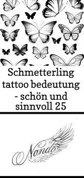 Schmetterling tattoo bedeutung – schön und sinnvoll 25