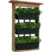 Houghton 3 Piece Wood Wall Planter