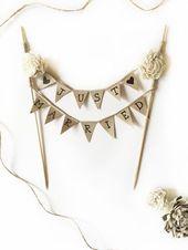 Wedding DIY: Cake Topper für Ihre Hochzeitstorte im Vintage-Stil   – Hochzeitstorten