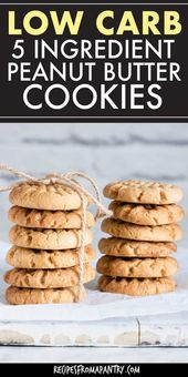 These 5 Ingredient Low Carb Peanut Butter cookies …