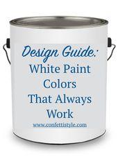 Des couleurs de peinture blanche qui fonctionnent. Les meilleures couleurs de peinture blanche pour décorer votre …