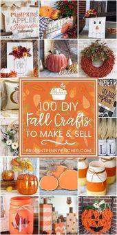 100 DIY Herbst Handwerk zu machen und zu verkaufen – Kleingarten – #DIY #Handw