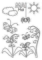 Coloriage Du Mois De Juin La Classe De Mélusine Maternelle