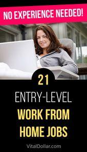 21 Berufseinsteiger von zu Hause aus: Keine Erfahrung erforderlich