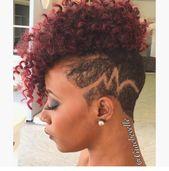 Bildergebnis für rasierte Seitenfrisuren für schwarzes Haar