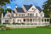 5-Bed Country Home Plan with Wraparound Porch and 3 Fireplaces   – Traumhäuser