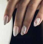 36 super Ideen Nägel Mandel Gold Maniküre #Nägel #Acrylnägel #Acrylnägel …   – Acrylic Nails