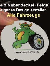 Crowd Funding Steelmonster Car Tuning: 4 Radnabenkappen (Nabendeckel) – Dein Des…