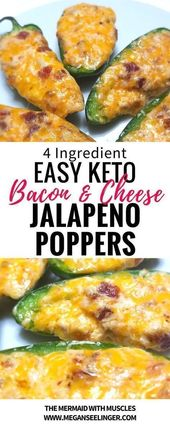 Keto Jalapeno Poppers wohlschmeckende fette Bomben   – Keto Food Recipes