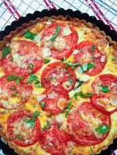 Tomatentorte mit Käse u. Pesto – Food and drink