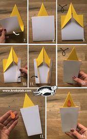 Kerze Papier zu Weihnachten – Winter Worksheets with Paper