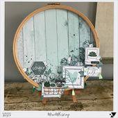 le blog de miniMlescrap: un cercle à broder en Soft & Green – DT Florilèges De…