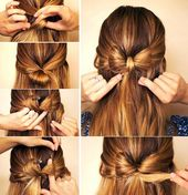 quick loop hairstyle idea for trendy oct + # beauty #hairstyles # for #hair #ideas #fashion