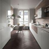 Fischgrätenmuster in der Küche in Kombination mit hellen Küchenfronten. Warum…
