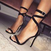Buckle Diamonds Girls Trend Peep Toe Excessive Heels Footwear