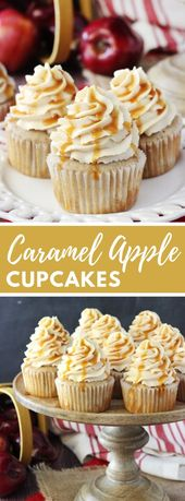 CARAMEL APPLE CUPCAKES #dessert #bestcake   – Desserts