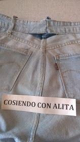 Cosiendo Con Alita Como Reducir La Cintura Del Pantalon Jeans Pantalones Jeans Como Reducir Cintura Pantalones
