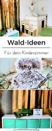 Images d'idées de décoration pour les pépinières forestières avec des animaux de la forêt et un espace de stockage  – HAMMAmama ° Skandinavisch Wohnen, Deko, DIY, Selbermachen