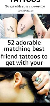 52 adorable matching best friend tattoos to get with your ride-or-die 15
