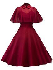 Gown Trapèze Patineuse Classic avec Cape en Tulle