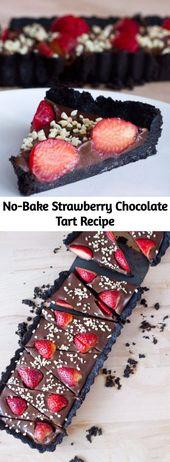 Diese No-Bake-Erdbeerschokoladentorte ist absolut ERSTAUNLICH. Es ist das einfachste …