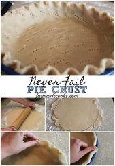 Suchen Sie nach der perfekten Pastetenkruste? Diese Never Fail Pie Crust ist mein … – Pies