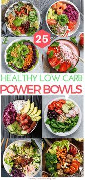 25 Insta-würdige Low Carb Power-Schalen, die Sie zu Ihrer wöchentlichen Keto-Mahlzeit-Vorbereitung hinzufügen können