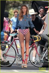 Gigi Hadid Bares Her Long Legs in a One-Piece Swimsuit