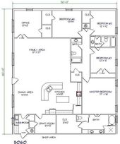 5 Luxury Barndominium Plans with 50' Width Plan