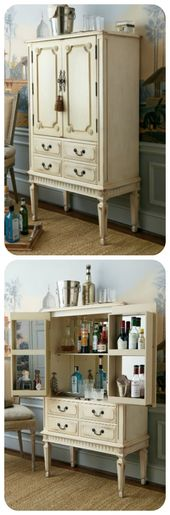 Like the storage setup!! [not for a bar though]  Shabby Chic Cottage Beige!  S …