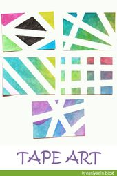 Baby Cards Tolle Ideen zum Karten basteln mit Tape Art: Wasserfarben und Klebeband! Lässt ...