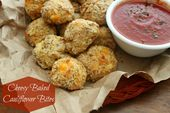 Cheesy Baked Cauliflower Bites – wäre ein großartiger (gesunder) Superbowl-Snack   – recipes