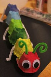 Egg Carton Caterpillar – recycled insects for children