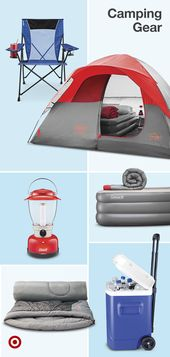 Find camping essentials like a camp fridge, coolers, food, sleeping bags & comfy…
