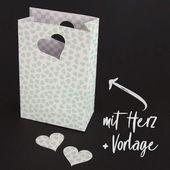 Bolsa de papel de regalo artesanal [Bastelvorlage & Plotterfreebie]