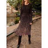 Lässige Kleidung Lange Ärmel Blumen Midi Kleider (1955464437) – Dresses