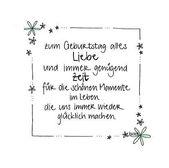 handgemachte Geburtstagskarte mit floralem Rand und Glitzer – zum Geburtstag all