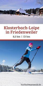 Die Klosterbach-Loipe ist klassisch und für Skater gespurt. Die leichte Loipe v…