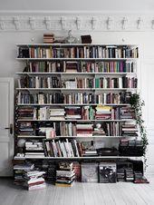 Bibliothèque etagere livre mur blanc rangement ornament interieurs weblog deco …